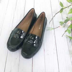 Coach Odette Black Patent Leather Loafers Size 9